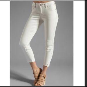 Free People herringbone skinny ankle jeans